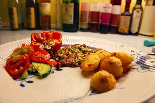 Roastbeef med Gremolata og Andekartofler