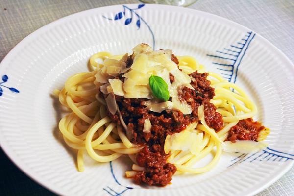 Opskrift på Spaghetti Bolognese